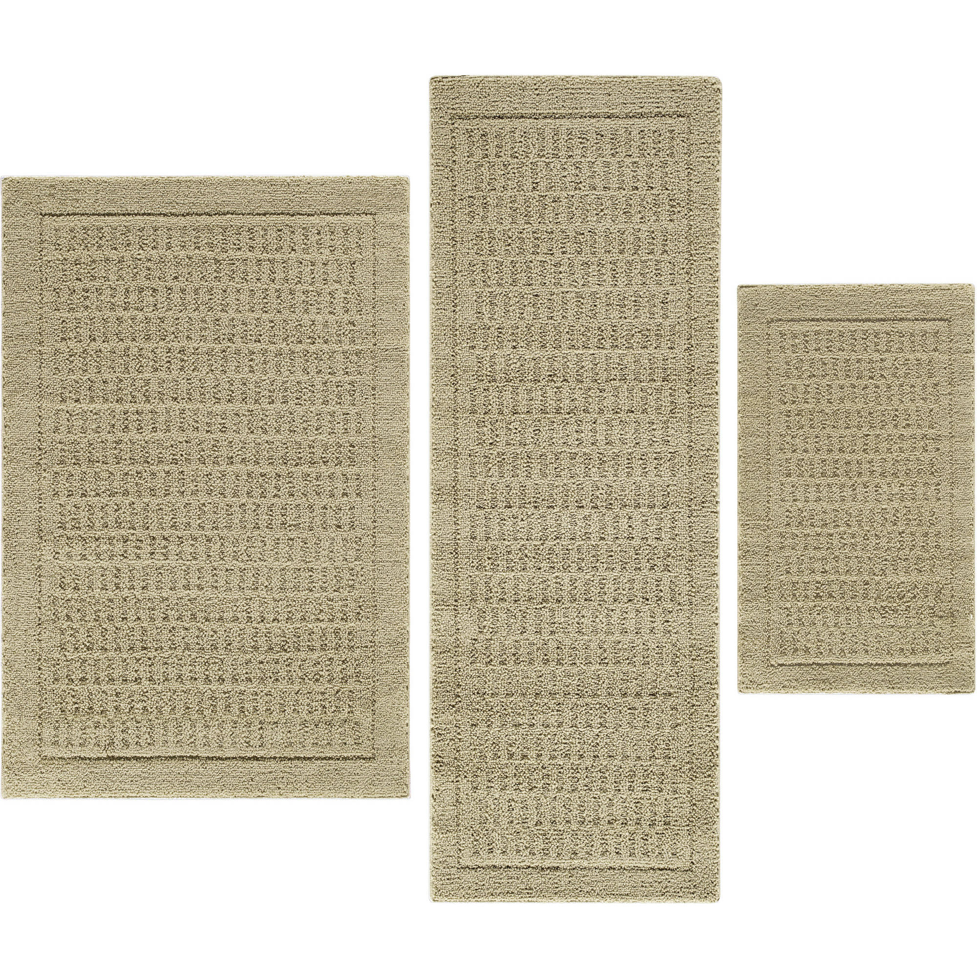 Mainstays Dylan Nylon 3 Piece Accent Rug Set
