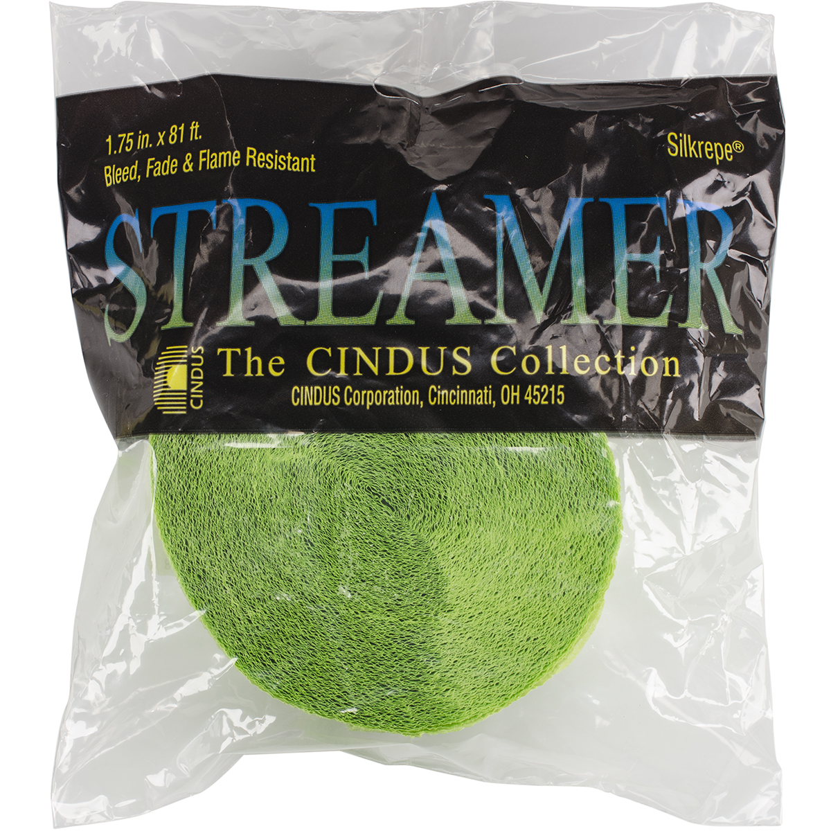 "Crepe Streamers 1.75""X81'-Light Lime Green"