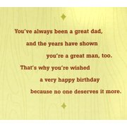 Hallmark Birthday Greeting Card For Dad Wooden Etched Message Image 3 Of 6