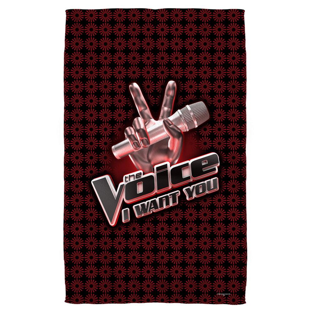 The Voice Logo Beach Towel White 36X58