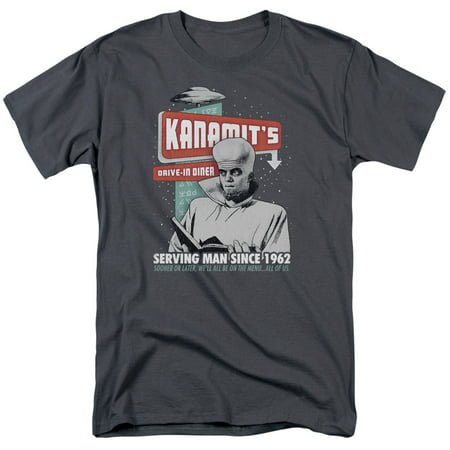 TWILIGHT ZONE/KANAMITS DINER-S/S ADULT 18/1-CHARCOAL-MD