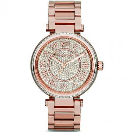c656b06252ef Michael Kors - Women s Skylar MK5868 Rose-Gold Stainless-Steel Quartz  Fashion Watch - Walmart.com