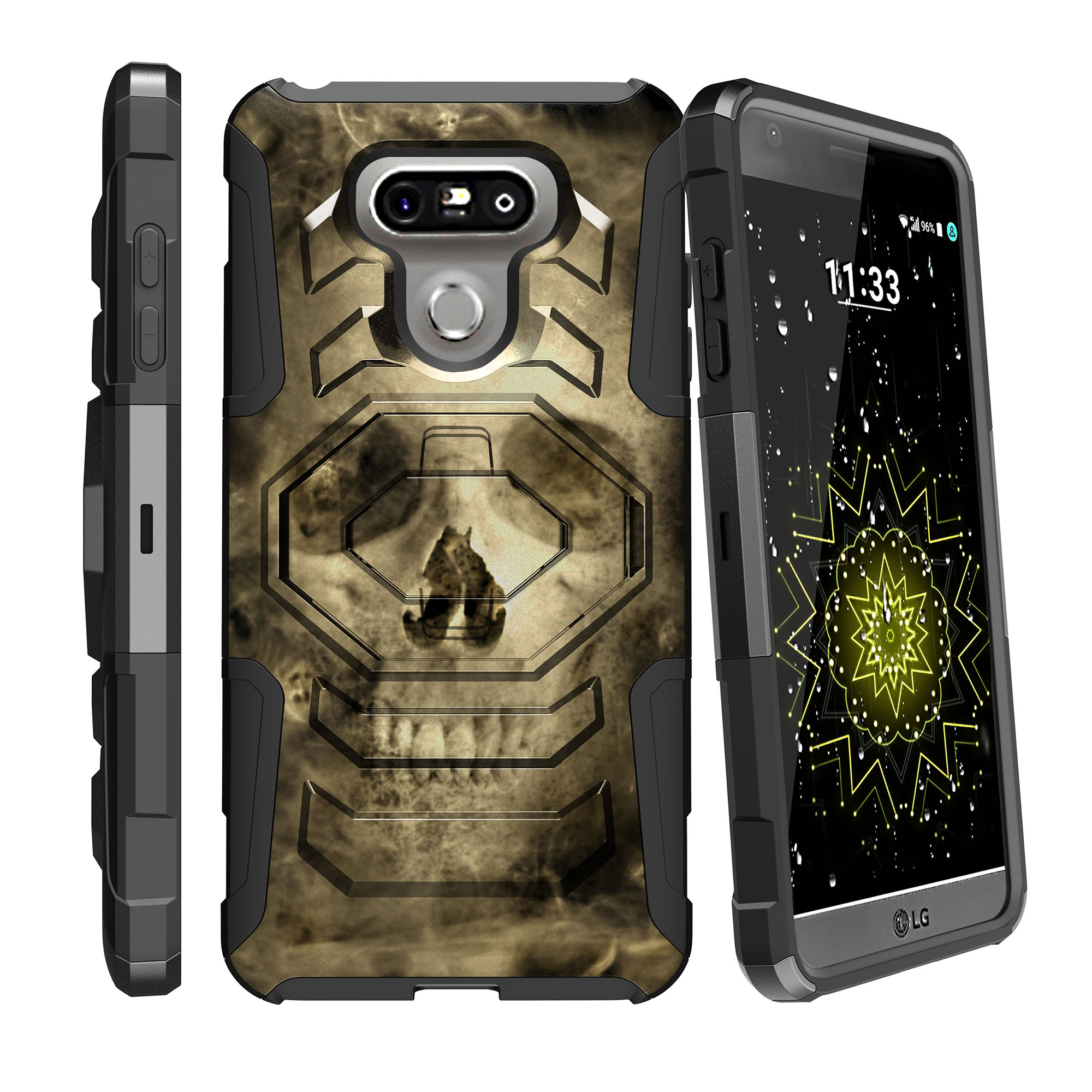 Case for LG G6 H870 | LG G6 Hybrid Casee [ Armor Reloaded ] Heavy Duty Case with Belt Clip & Kickstand Skull Collection