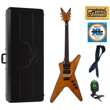 Amber Sb (Dean ML SB F TAM ABSPACK Solid-Body Electric Guitar, Trans Amber, ABS Case Bundle )