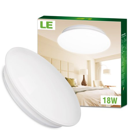 Lighting EVER 18W LED Flush Mount Ceiling Lighting Modern Kitchen Bedroom Ceiling Light Fixtrue, 40W Fluorescent Bulb Equivalent