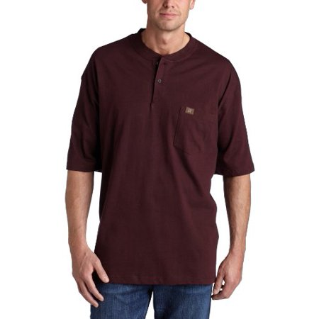 f4d1a3195ef0 Wrangler - RIGGS WORKWEAR by Wrangler Men's Big and Tall Short Sleeve Henley,Burgundy,4X  Big - Walmart.com