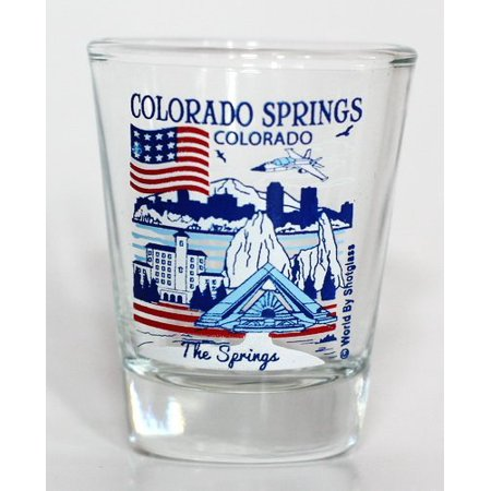 Colorado Springs Colorado Great American Cities Collection Shot Glass (Party City In Colorado Springs)