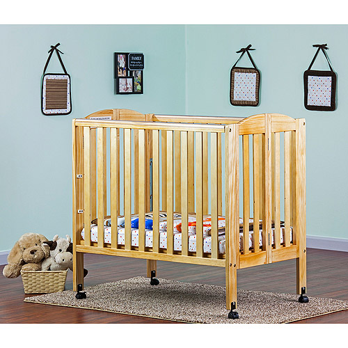 Dream On Me 3-in-1 Folding Portable Crib, Natural