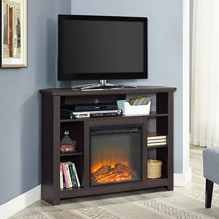 Park Place Two Light - Manor Park Tall Corner Fireplace TV Stand for TV's up to 48