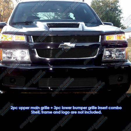 2004-2010 Chevy Colorado Xtreme Black Billet Grille Grill Combo - 2008 Chevrolet Colorado Grille