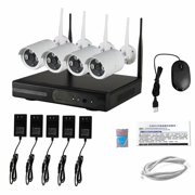 Wireless Security Camera System, 4CH 1080P Wireless NVR System with 4pcs 720P IP Security Camera ,CCTV Camera System(No Hard Drive)