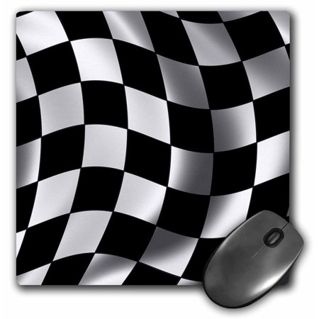 3dRose Race flag banner checker chequer finish racing motor sports waving, Mouse Pad, 8 by 8 inches for $<!---->