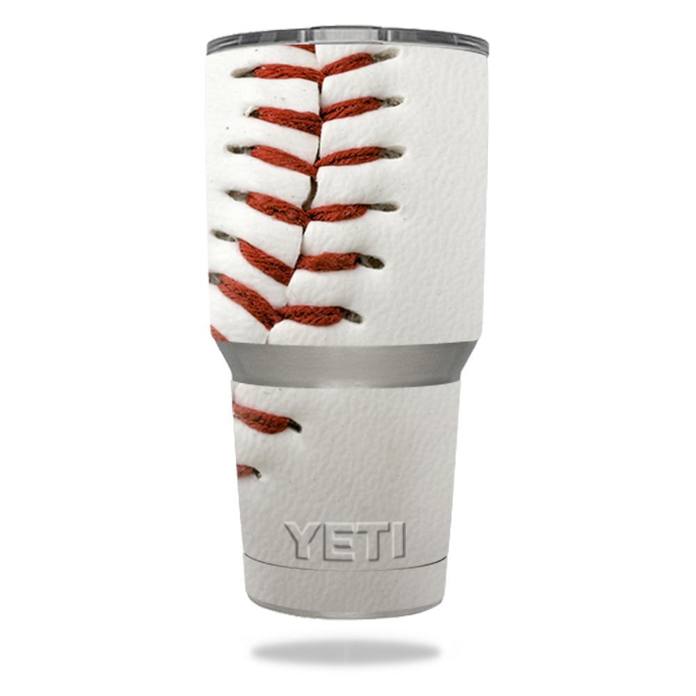 MightySkins Protective Vinyl Skin Decal for YETI 30 oz Rambler Tumbler wrap cover sticker skins Baseball