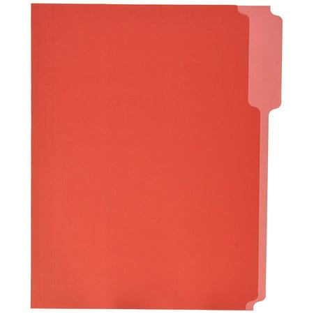 School Smart 2-Tone Reversible File Folder, Letter, Red, Pack of - Red File Folders