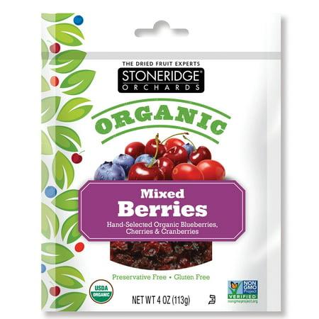 Stoneridge Orchards  Organic  Mixed Berries  4 Oz  Pack Of 12