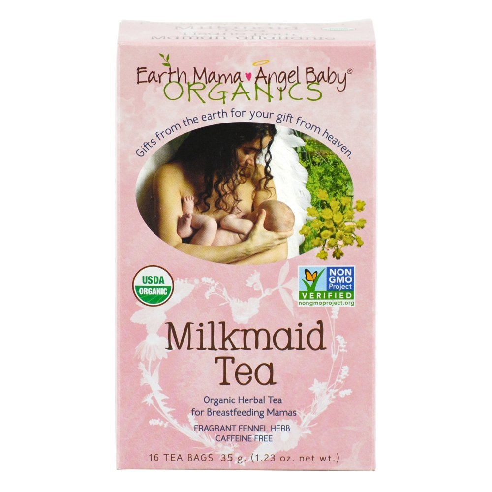 Organic Milkmaid Tea to Support Healthy Breastfeeding Milk Production, 16 Teabags/Box(Pack of 3)