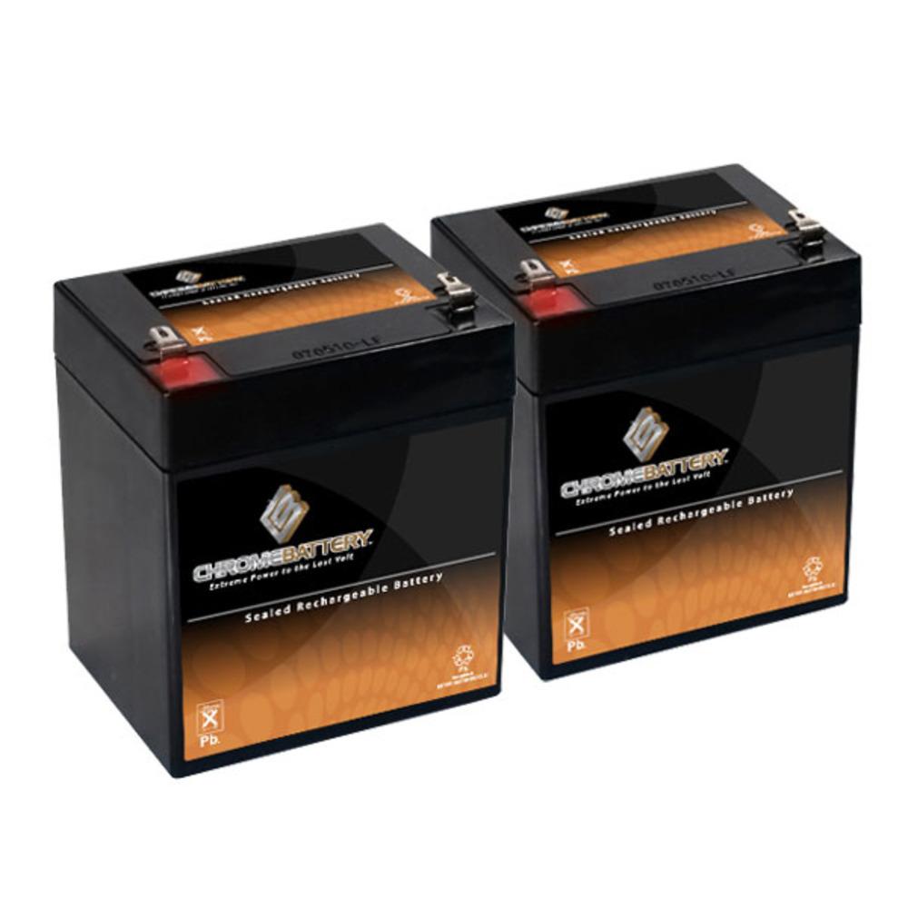 12V 4AH Sealed Lead Acid (SLA) Battery - T1 Terminals - for ZB-12-4 - 2PK