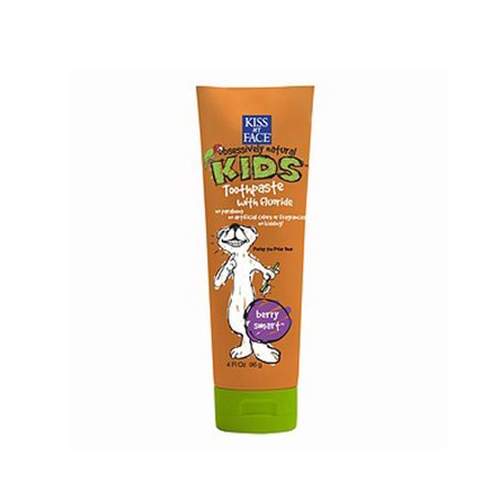 Kiss My Face Enfants Dentifrice Fluoride, Berry intelligente - 4 Oz, 6 Pack