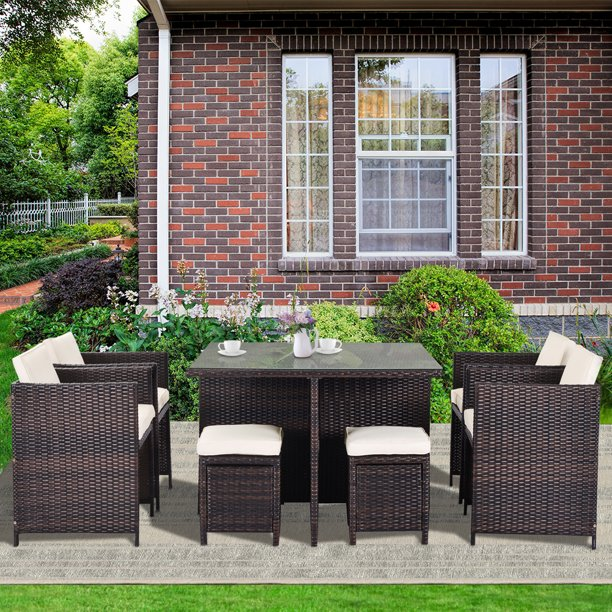 Outdoor Patio Furniture Sets 9 Piece, Durable Outdoor Furniture