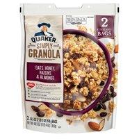 Quaker Simply Granola Cereal, 34.5 oz, 2-count