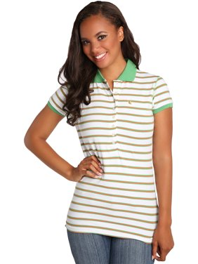 396dadfe9b9 Product Image Sweet Vibes Junior Womens Polo Shirts Stretch Jersey Short  Sleeve Multi Stripes