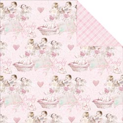 Bulk Buy: FabScraps Scapbooking (25-Pack) Royal Baby Double Sided Cardstock 12'X12' Baby Girl C70001