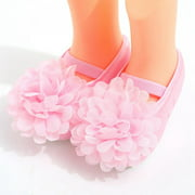 Baby Girl Shallow Princess Shoes, Newborn Flower Satin Shoes Soft Sole Toddler Infant Shoes