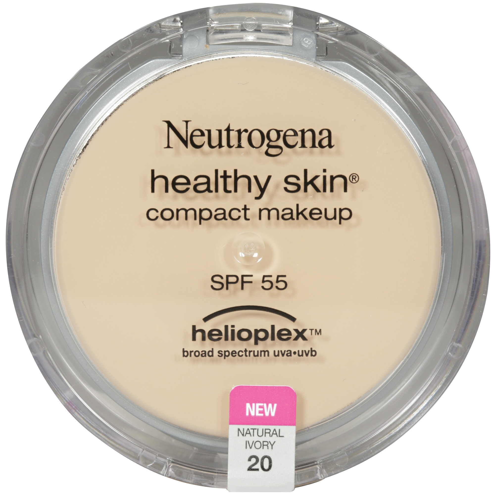 Neutrogena Healthy Skin Compact Makeup Broad Spectrum SPF 55, Natural Ivory 20, .35 Oz