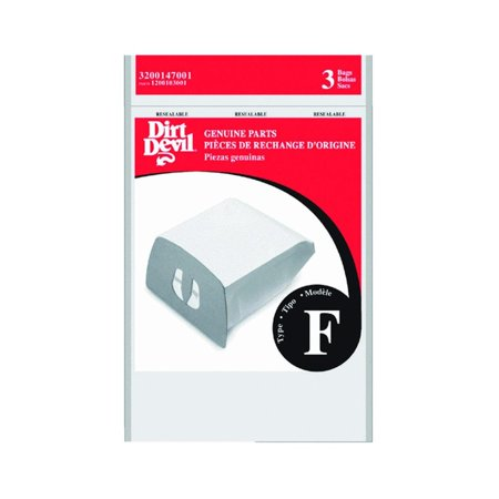 Replacement Vacuum Cleaner Bag, GENUINE DIRT DEVIL TYPE F PAPER BAGS HELP YOUR CANISTER VACUUM CLEANER MAINTAIN PEAK PERFORMANCE By Royal Appliance