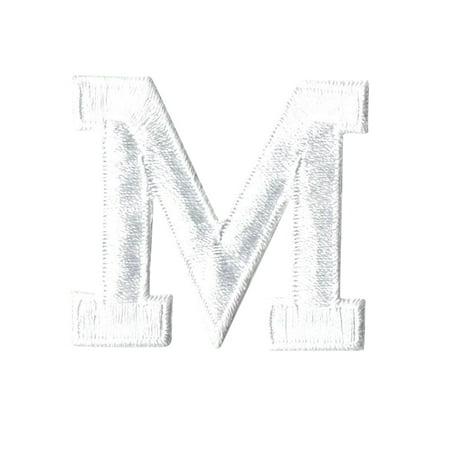 Easy Applique Blocks (Alphabet Letter - M - Color White - 2