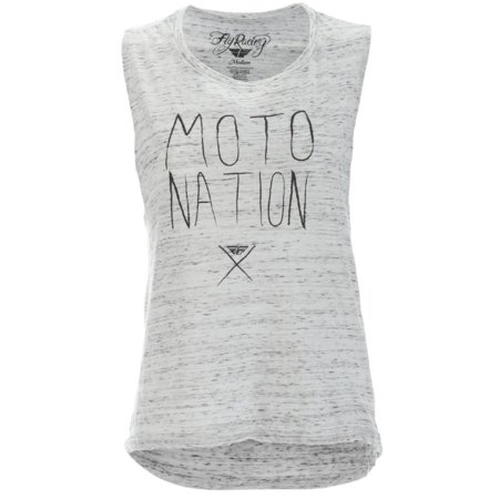 Fly Racing Moto Nation Muscle Womens T-Shirt