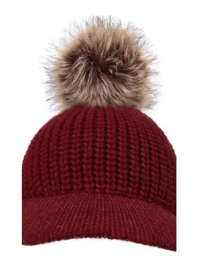 47ca1f68e7e Product Image Kids Girls Winter Warm Thick Knitted Ski Pompom Beanie Hat  Burgundy