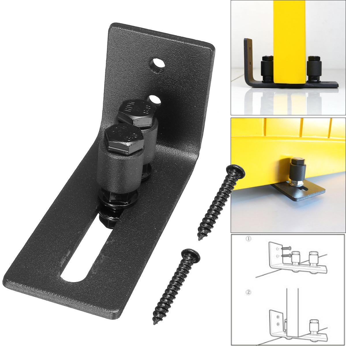 Carbon steel Barn Door Hardware Multifunction Bottom Floor Wall Guide Floor Guide with Adjustable Screws【3pcs】