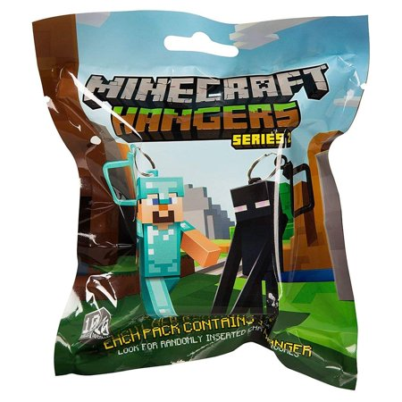 Minecraft Action Figure Hangers In Blind Bag - Party Supplies](Minecraft Cardboard Head)
