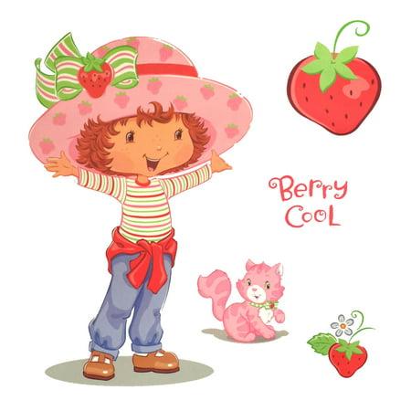 Store51 Llc 12440860 Strawberry Shortcake Accent Berry Cool Self-stick - Strawberry Shortcake Wall Stickers