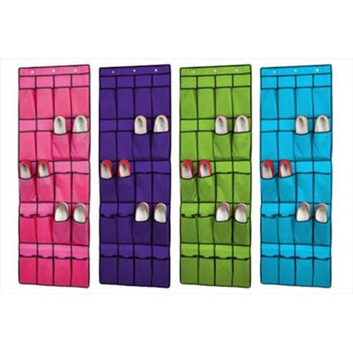 Sunbeam Fabric 10-pair 20-pocket Shoe Rack Organizer in Assorted Colors by Overstock