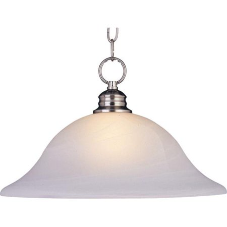 Marble Pressed Glass (Maxim Lighting 1 Light Pendant, Satin Nickel Finish - Marble Glass)