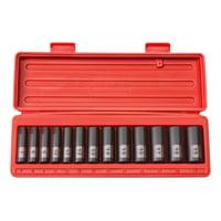 TEKTON 3/8 Inch Drive Deep 6-Point Impact Socket Set, 13-Piece (7-19 mm)   47925
