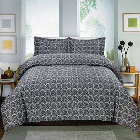 Paisley Collection Printed Sheet Set 600-Thread Count Cotton Rich (Queen, Black)