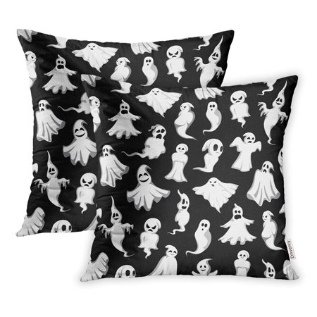 ARHOME Halloween Ghost Scary Holiday Spirit Flying Monster Poltergeist Phantom Pillowcase Cushion Cover 16x16 inch, Set of 2 (Coat Rack Monster Spirit Halloween)