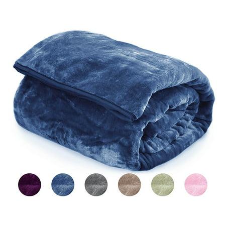 Archangel Cloud Mink Blanket Indigo Blue