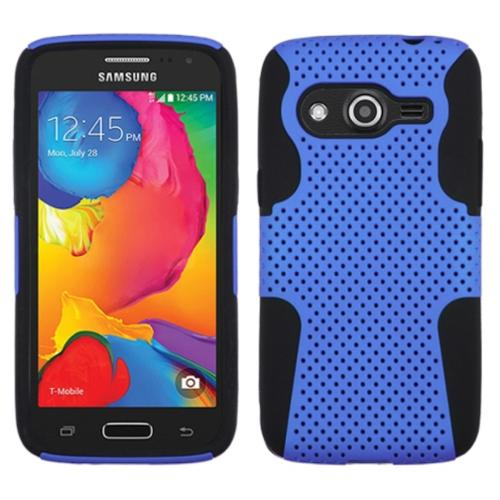 Insten Astronoot Hard Dual Layer Silicone Cover Case For Samsung Galaxy Avant - Dark Blue/Blue