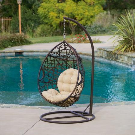 Vienna Outdoor Wicker Basket Chair, Brown ()