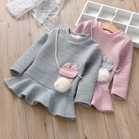Cartoon Outfit Ideas (Outtop Toddler Kids Baby Girl Cartoon Striped Princess Sweatshirt Dress Clothes)