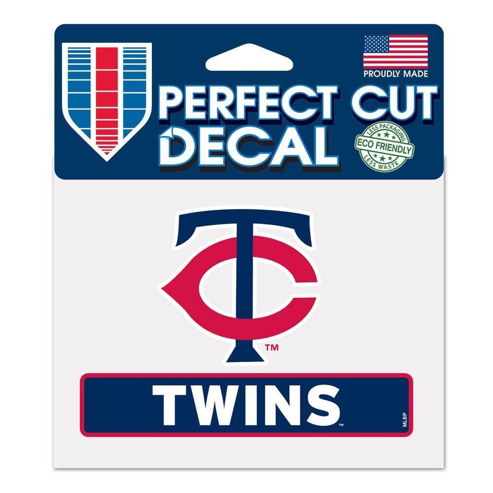 "Minnesota Twins WinCraft 4"" x 5"" Perfect Cut Logo Slogan Decal - No Size"