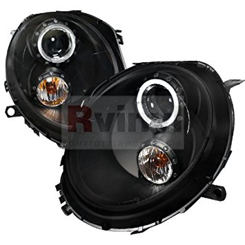 Housing Spec-D Tuning 2LHP-MINI06JM-TM Black Projector Headlight