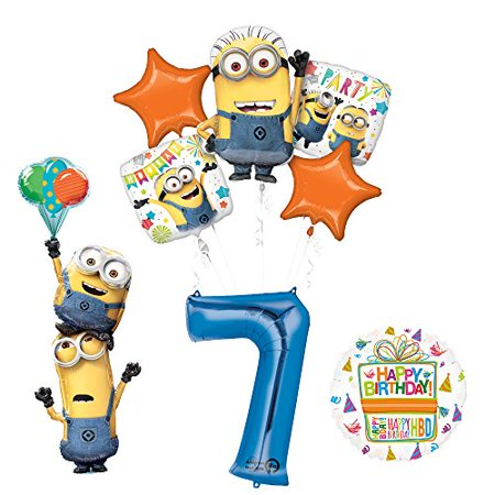 Despicable Me 3 Minions Stackers 7th Birthday Party Supplies
