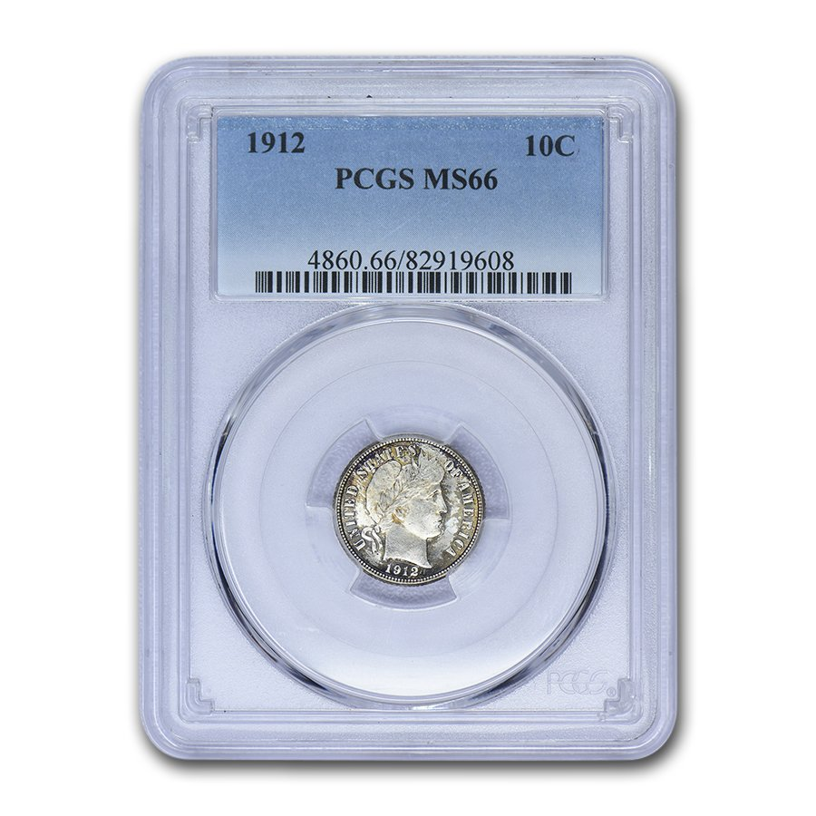1912 Silver Barber Dime GOOD FREE SHIPPING