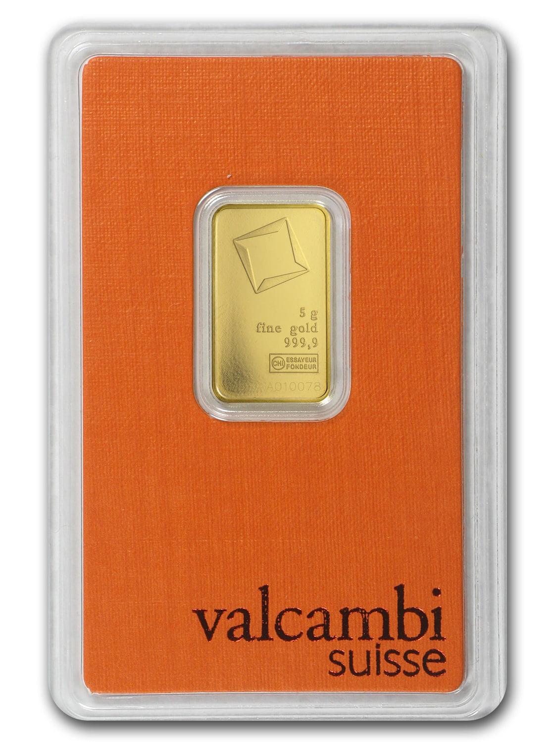 5 gram Gold Bar - Valcambi (In Assay)