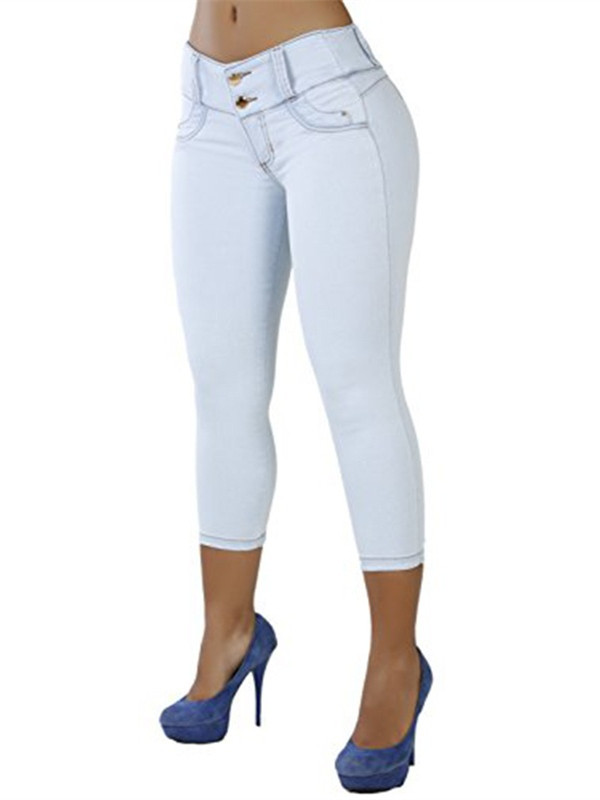 Women's Cropped Double Stack Ankle Skinny Jeans
